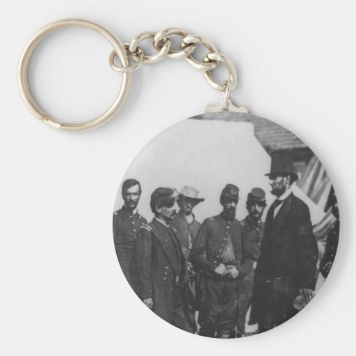 Abraham Lincoln on Battlefield at Antietam Key Chains