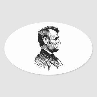 Abraham Lincoln Oval Sticker