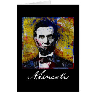 Abraham Lincoln - Painting Card