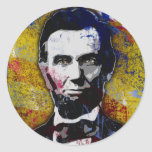 Abraham Lincoln - Painting Classic Round Sticker