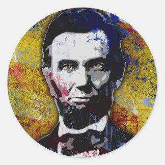 Abraham Lincoln - Painting Round Sticker
