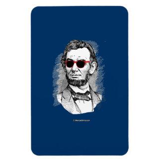 Abraham Lincoln Party Glasses Rectangular Photo Magnet