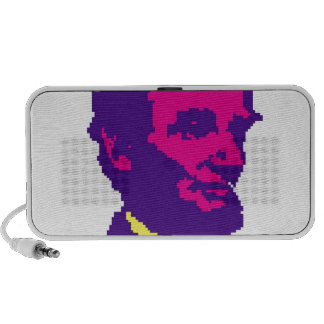 Abraham Lincoln Pixelated iPod Speakers