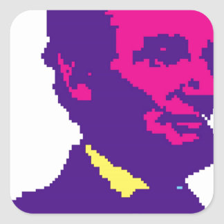 Abraham Lincoln Pixelated Square Sticker