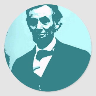 Abraham Lincoln Pop Art Classic Round Sticker