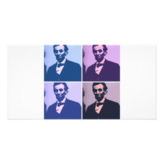 Abraham Lincoln Pop Art Picture Card