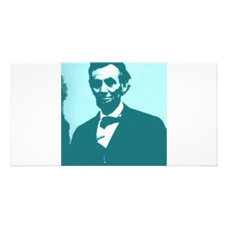 Abraham Lincoln Pop Art Photo Card Template