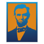 Abraham Lincoln Pop Art Poster