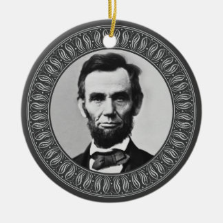 Abraham Lincoln Portrait and Quote - Double-sided Christmas Ornament