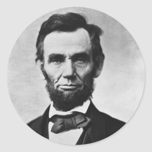 Abraham Lincoln Portrait by Alexander Gardner Round Sticker