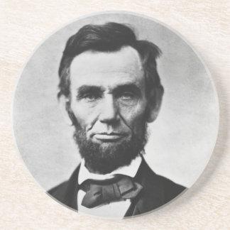 Abraham Lincoln Portrait by Alexander Gardner Sandstone Coaster