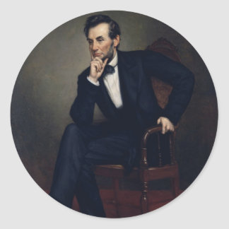 Abraham Lincoln Portrait by George Healy Stickers