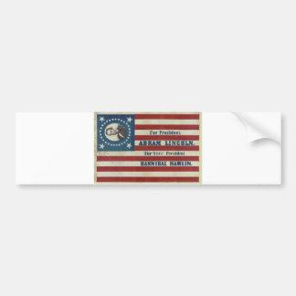 Abraham Lincoln Presidency Campaign Banner Flag Bumper Sticker