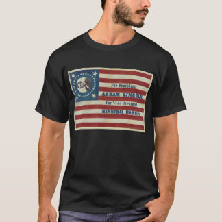 Abraham Lincoln Presidency Campaign Banner Flag T-Shirt