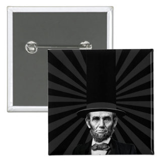 Abraham Lincoln Presidential Fashion Statement 15 Cm Square Badge