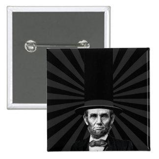 Abraham Lincoln Presidential Fashion Statement 15 Cm Square Badge