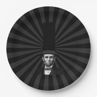 Abraham Lincoln Presidential Fashion Statement 9 Inch Paper Plate