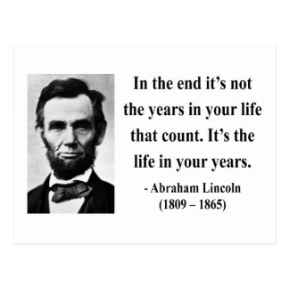 Abraham Lincoln Quote 2b Postcard