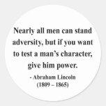 Abraham Lincoln Quote 6a Classic Round Sticker