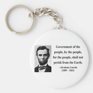 Abraham Lincoln Quote 7b Basic Round Button Key Ring