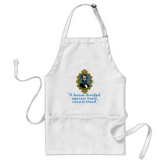Abraham Lincoln Quote A House Divided Standard Apron