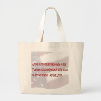 Abraham Lincoln Quote Tote Bags