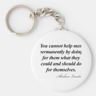 Abraham Lincoln Quote Basic Round Button Key Ring