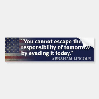 Abraham Lincoln Quote Bumper Sticker