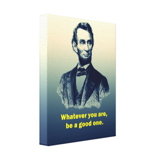 Abraham Lincoln Quote Canvas Print