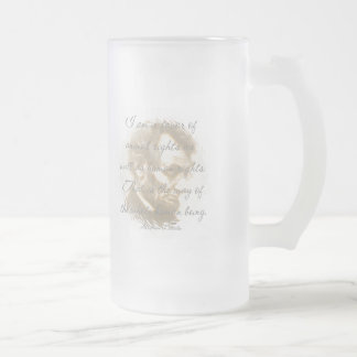 Abraham Lincoln Quote Frosted Mug