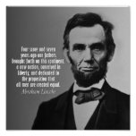 Abraham Lincoln Quote - Gettysburg Address Poster