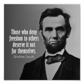 Abraham Lincoln Quote on Slavery Poster