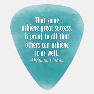 Abraham Lincoln Quote on Success - Watercolor Plectrum