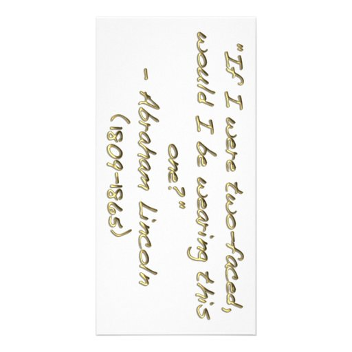 Abraham Lincoln quote Photo Cards