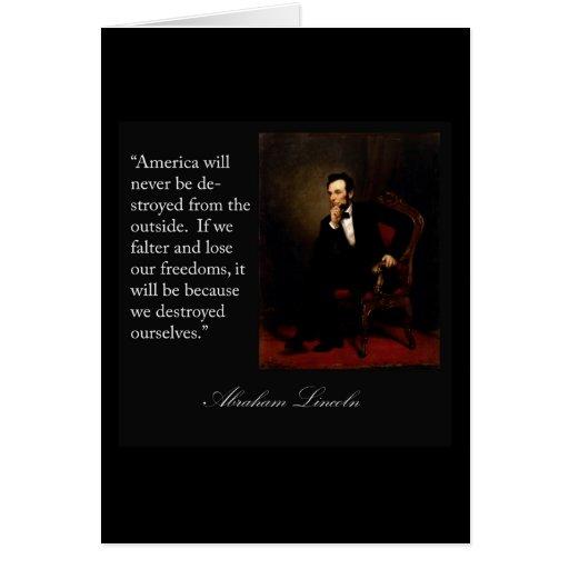 Abraham Lincoln Quote & Portrait Cards