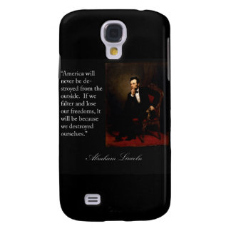 Abraham Lincoln Quote Portrait Galaxy S4 Covers