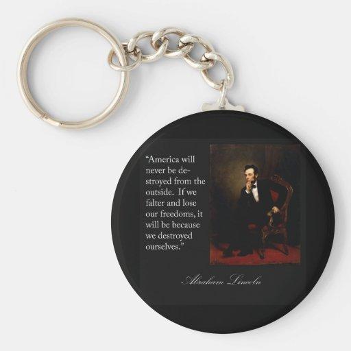 Abraham Lincoln Quote & Portrait Key Chain