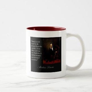 Abraham Lincoln Quote & Portrait Coffee Mugs
