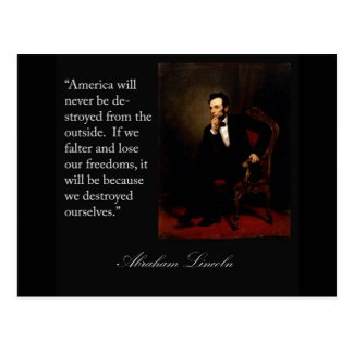 Abraham Lincoln Quote & Portrait Postcard