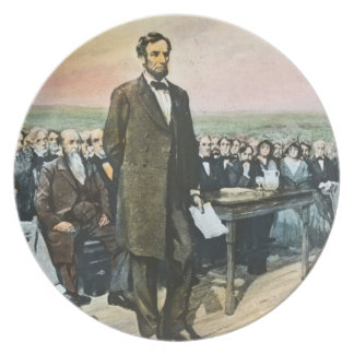 Abraham Lincoln Recites the Gettysburg Address Party Plates