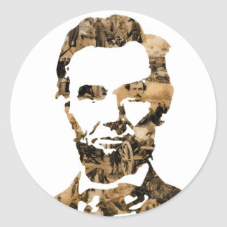 Abraham Lincoln Round Sticker