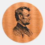 Abraham Lincoln Round Sticker