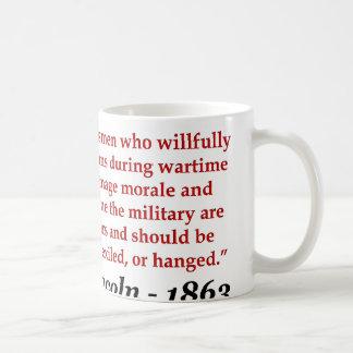 Abraham Lincoln: Saboteurs Should Be... Coffee Mug