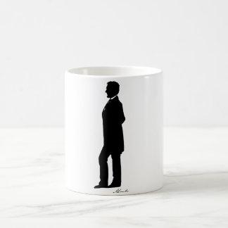 Abraham Lincoln Silhouette Basic White Mug