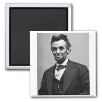 Abraham Lincoln Square Magnet