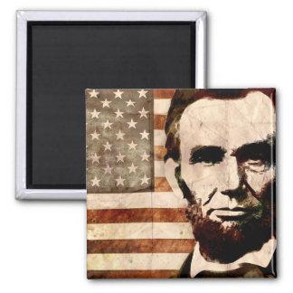 Abraham Lincoln Square Magnet