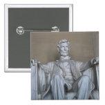 Abraham Lincoln statue 15 Cm Square Badge