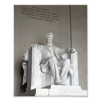 Abraham Lincoln Statue Lincoln Memorial Washington Photo Print