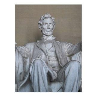 Abraham Lincoln statue Postcard
