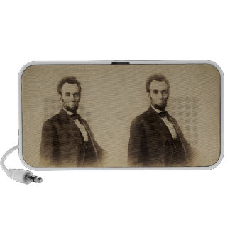Abraham Lincoln Stereoview Card Mini Speakers
